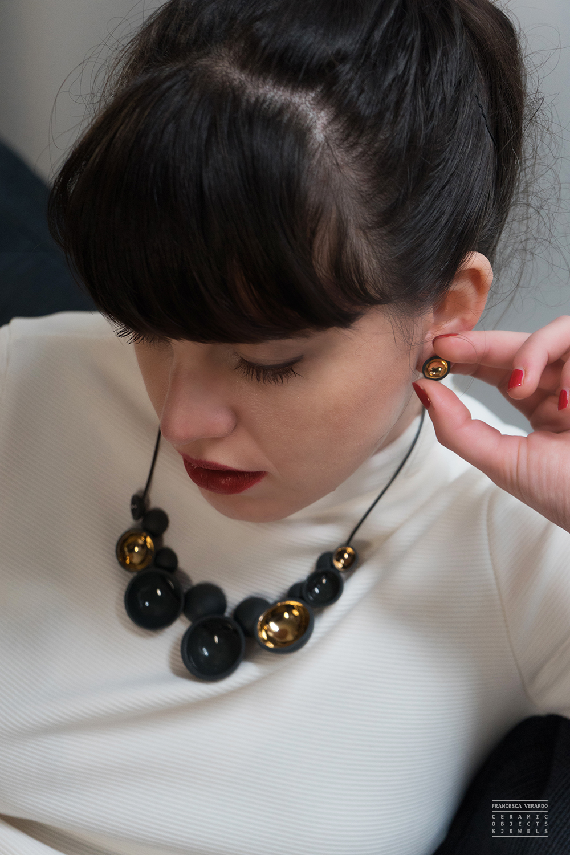 Francesca Verardo_Semisfera-Black and Gold